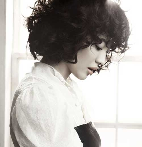 Curly Dark Bob Hairstyles 2014-2015