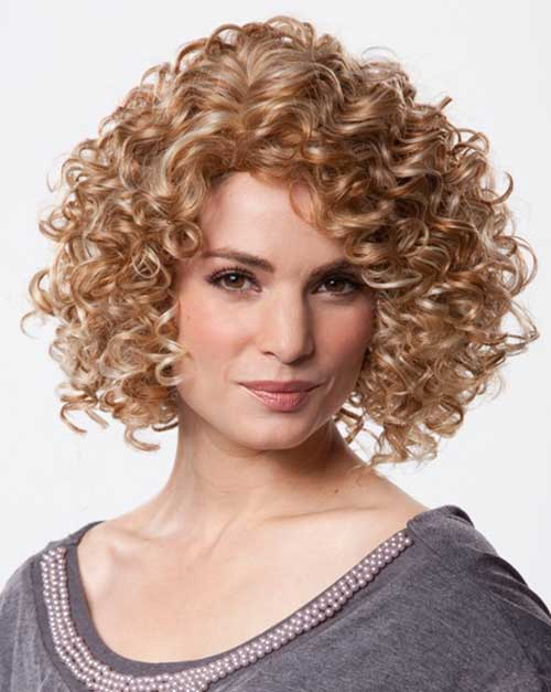 Cute Curly Short Bob Hairstyles