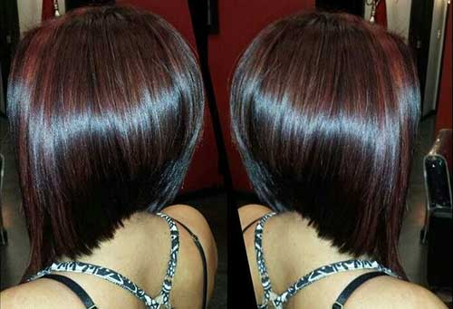 Cool Angled Bob Haircut Pictures Back View Medium Short Haircuts Hairstyles For Women Draintrainus