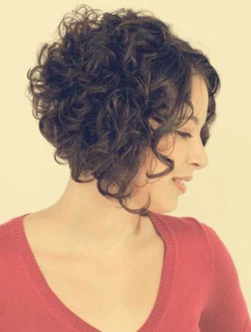 Dark Curly Short Bob Hairstyles Ideas