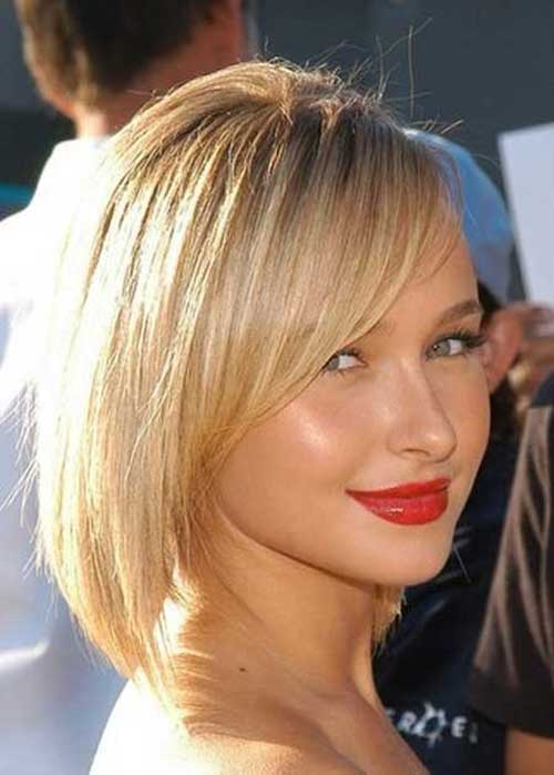 Hayden Panettiere Inverted Bob Haircut