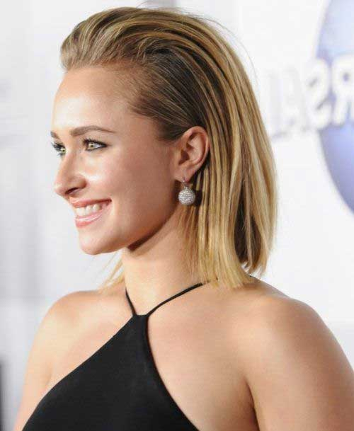 Hayden Panettiere Slicked Back Bob Hairstyles