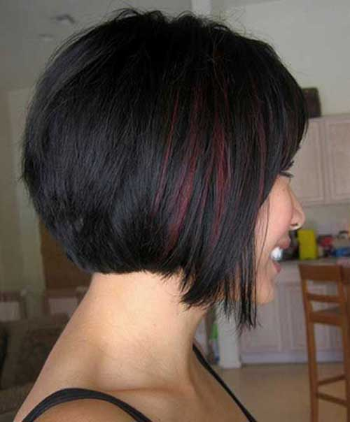 Inverted Dark Bob Hairstyles