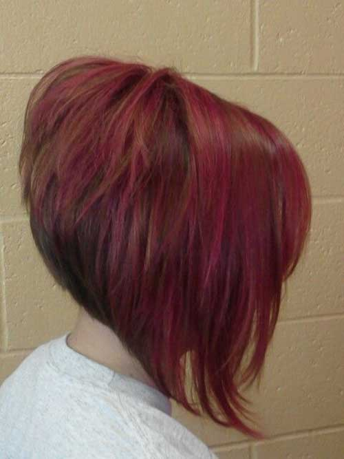Inverted and Stacked Bob Hairstyle