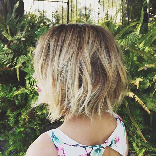 Lauren Conrad Casual Bob Hairstyles Back View
