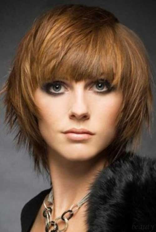 Layered Bob Hair and Bangs Styles Ideas with Fringe