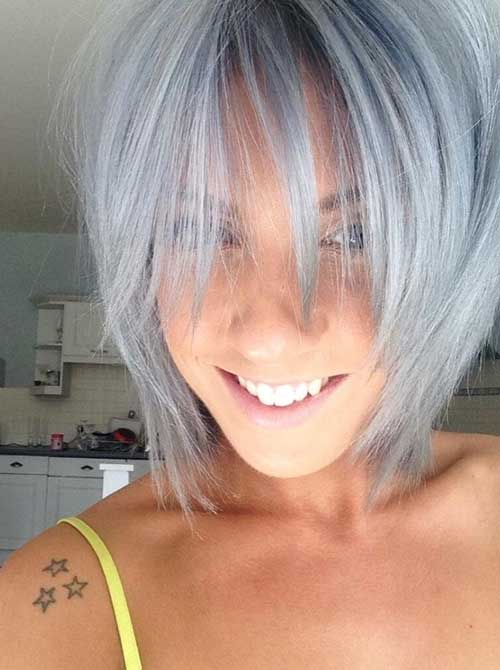 Layered Bob Hairstyles for Grey Hair Style