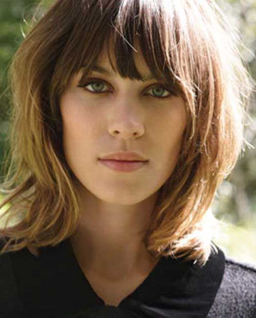 Long Bob Hair Cuts with Fringe