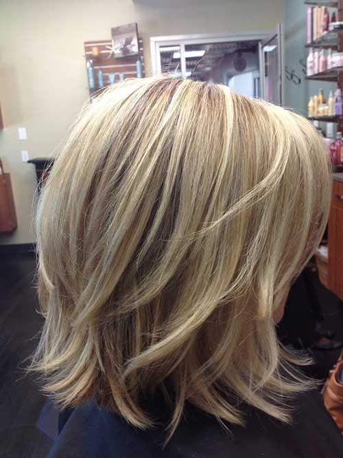 Medium Length Blonde Bob Haircuts