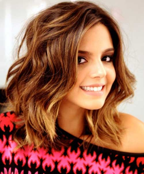 Wavy Medium Length Bob Hairstyles for Thick Hair
