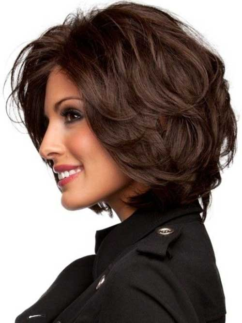 Medium Length Wavy Dark Bob Haircuts