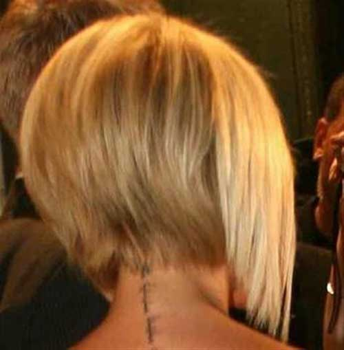 Victoria Beckham Short Bob Haircuts Back View