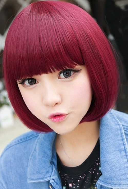 Short Chinese Bob Hairstyles with Bangs Pictures