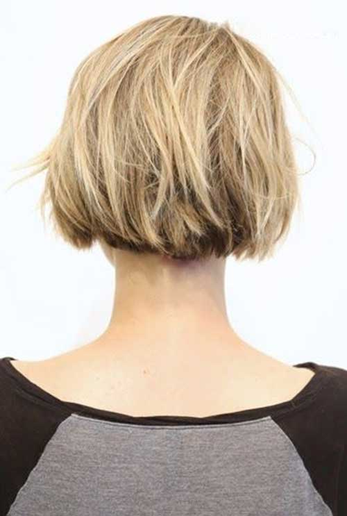 Short Choppy Bob Haircut Back View