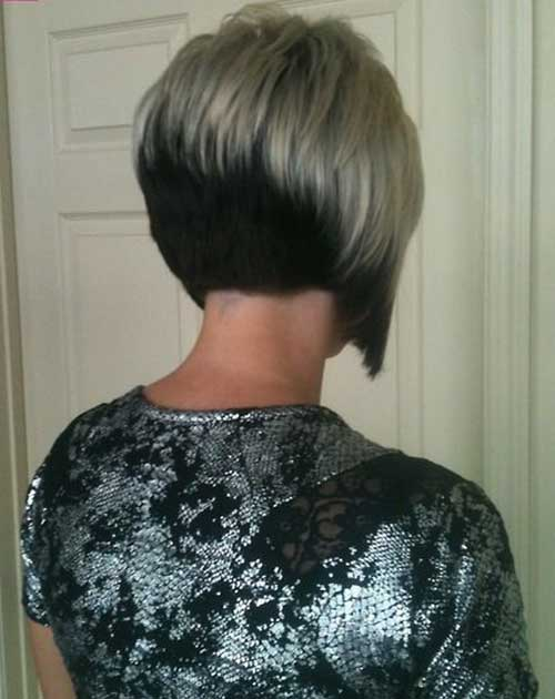 Short Inverted Bobs Back View