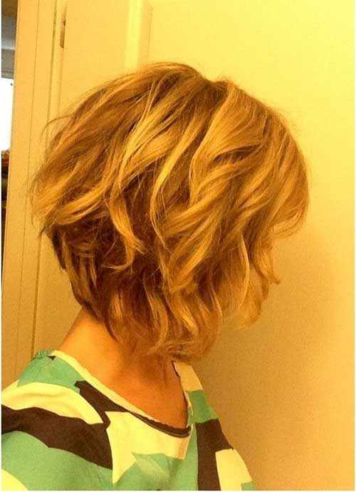 Short Inverted Bobs Side View Photos