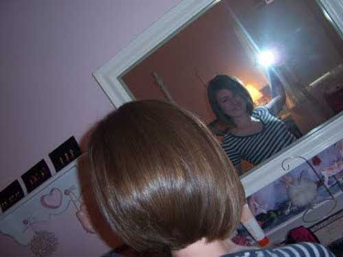 Straight Short Bob Haircut Back Look