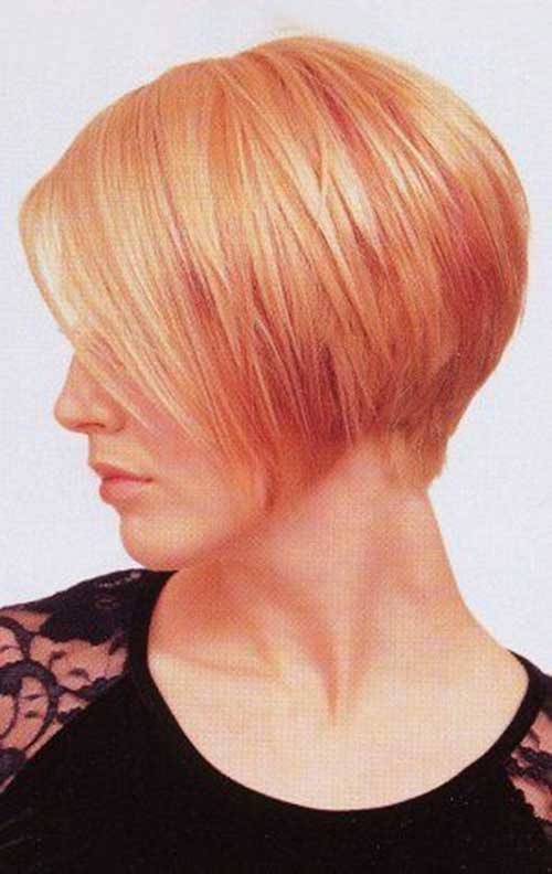 Strawberry Blonde Straight Bob Haircut