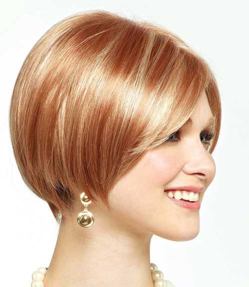 Strawberry Blonde Highlighted Bob Idea