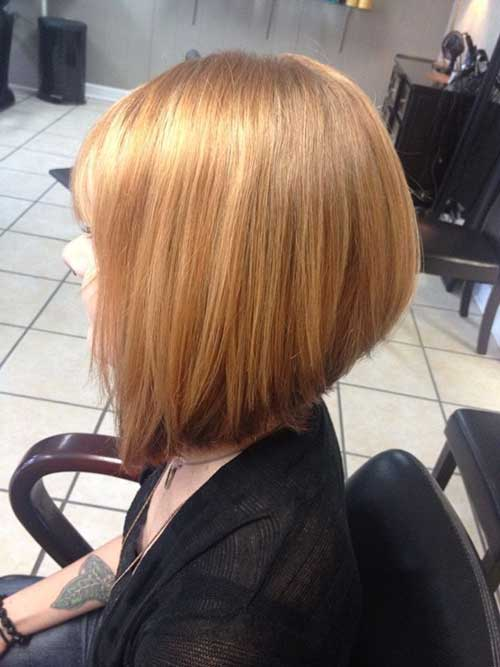 Strawberry Blonde Inverted Bob Hairstyles
