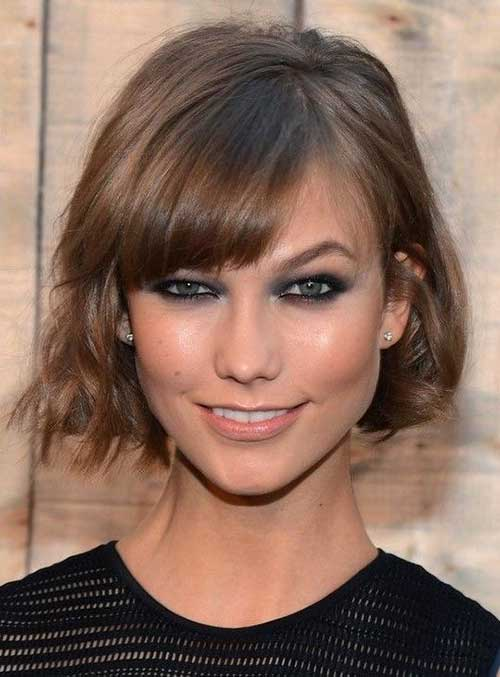 Thin Bob with Bangs Hairstyles