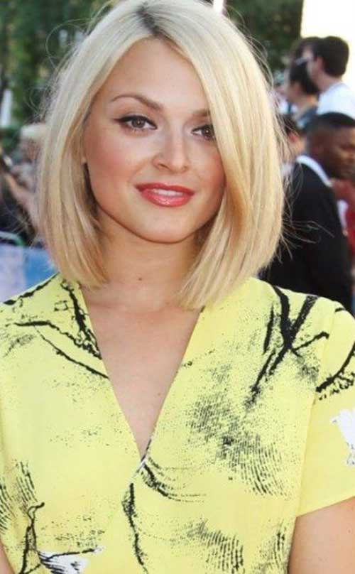 Thin Side Swept Straight Bob Haircuts