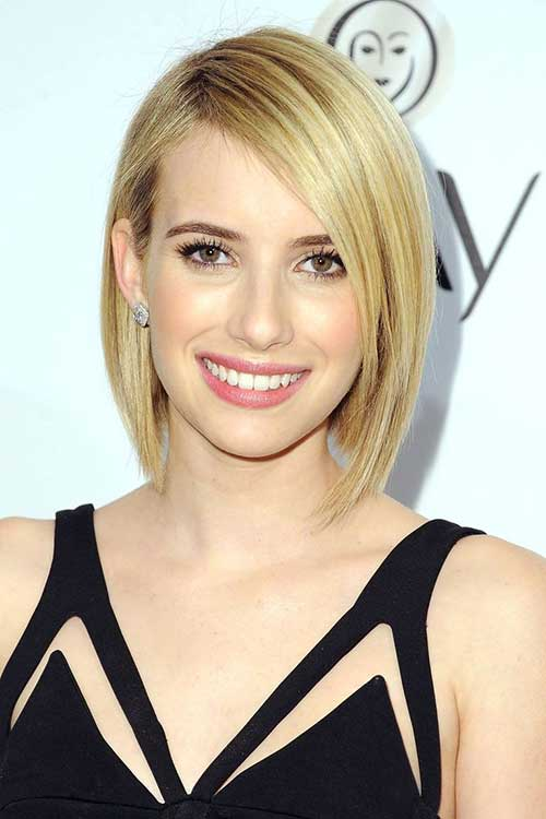 Thin Straight Blonde Bob Hairstyles