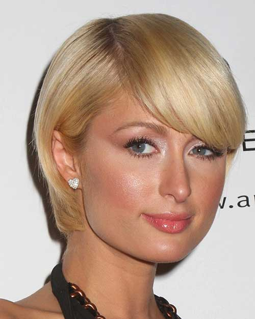Outstanding 10 Bob Hairstyles With Bangs For Round Faces Bob Hairstyles 2015 Hairstyles For Women Draintrainus