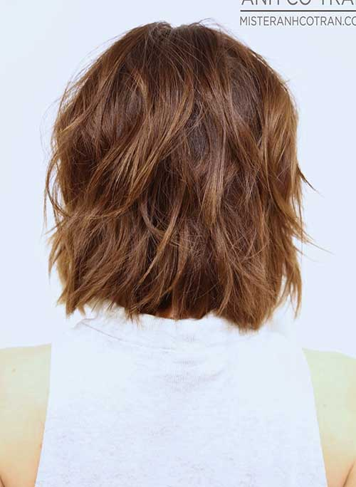 Wavy Layered Bobs Styles Back Look 2014