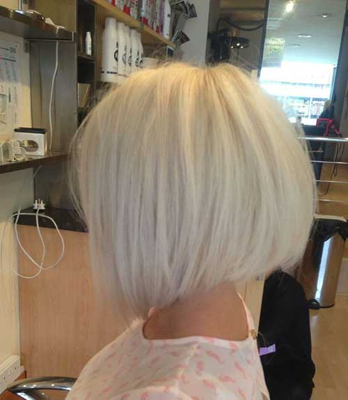 White Blonde Bob Hair Side