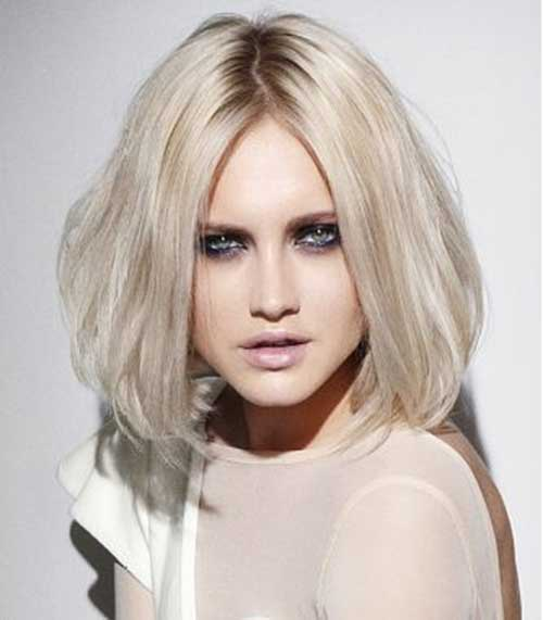 White Blonde Medium Bob Ideas