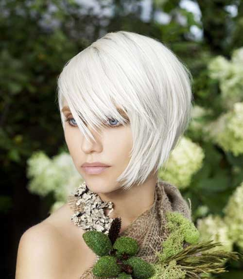 White Blonde Nice Bob Hairstyles