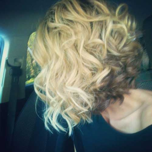 Best Blonde Curled Bob Hairstyles