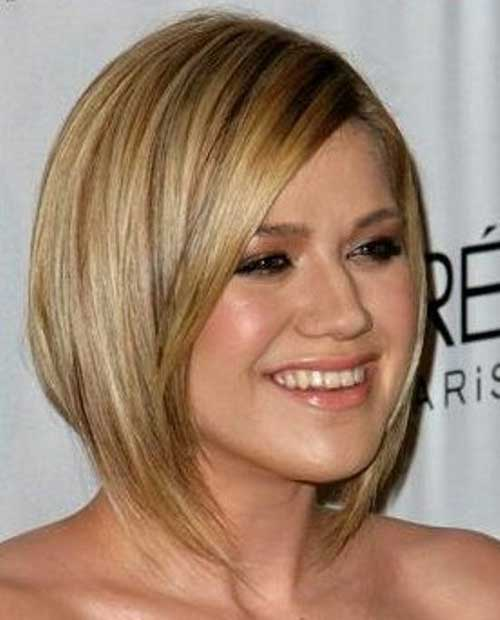 Blonde Bob Cuts for Round Faces