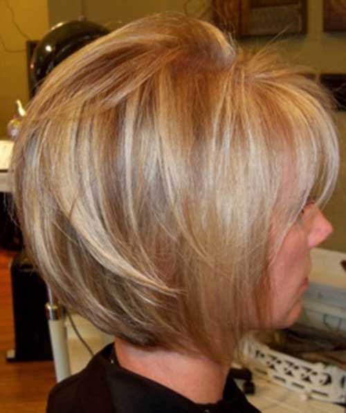 Casual Highlighted Bob Haircuts