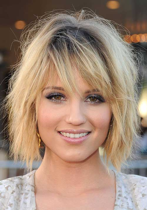 Choppy Medium Bob Hairstyles with Bangs