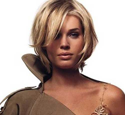 Cool Blonde Side Swept Bob Haircuts 2015