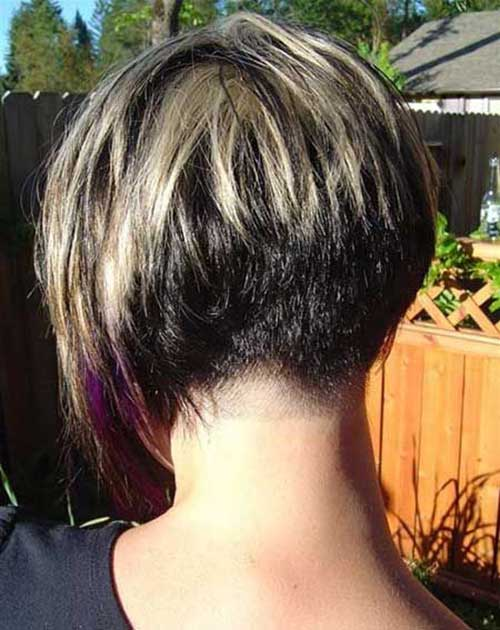 Cool Short Bob Haircut Back View 2015