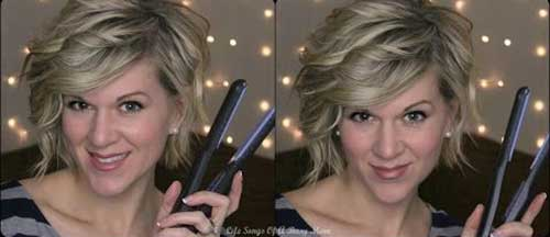 Curled Angled Bob Hairstyles