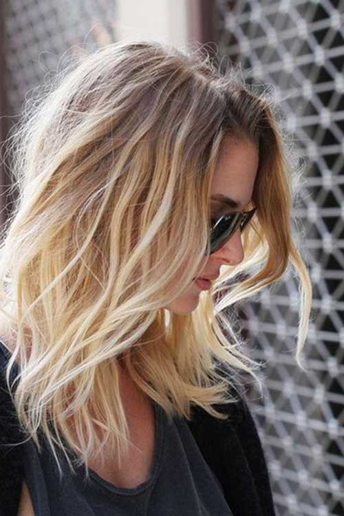 Layered Long Ombre Bob Hairstyles