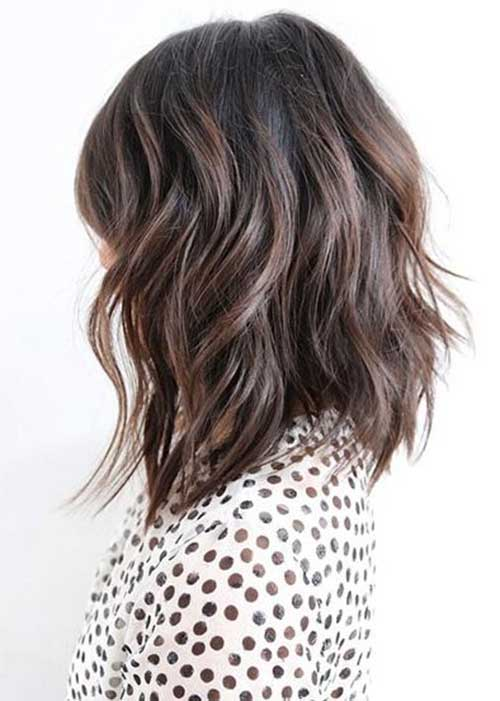 Long Layered Wavy Bob Haircuts