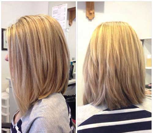 Long Layered Bob Hairstyles Back View