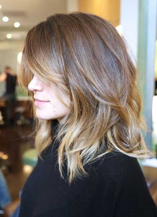 Long Layered Wavy Bob Hairstyles