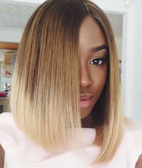 Blonde Ombre Bobs for Black Women