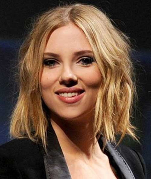 Scarlett Johansson Blonde Bob Haircuts