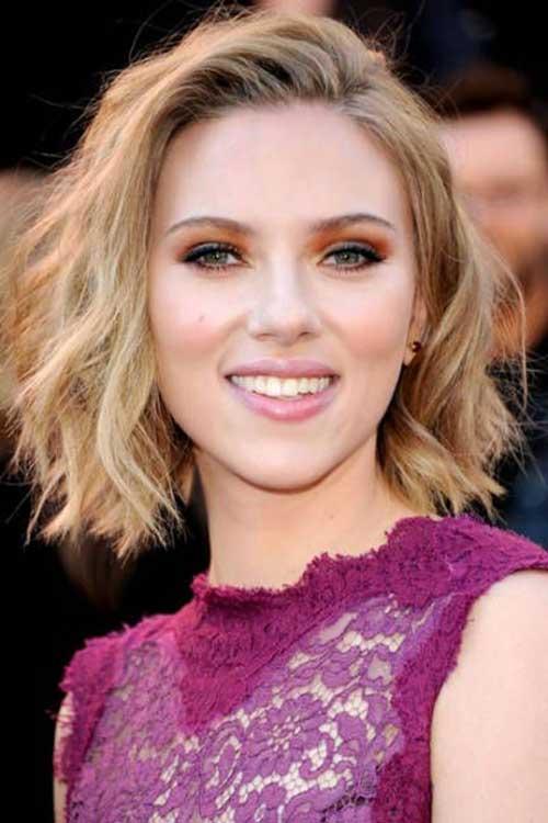Scarlett Johansson Bob Wavy Hair