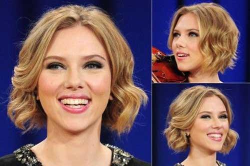 Scarlett Johansson Curly Bob Hair