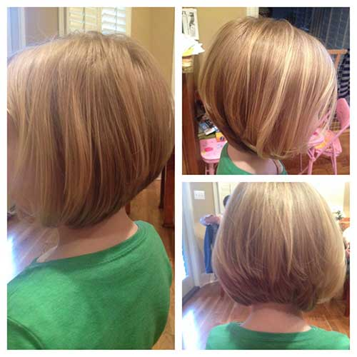how to cut a stacked bob on a little girl
