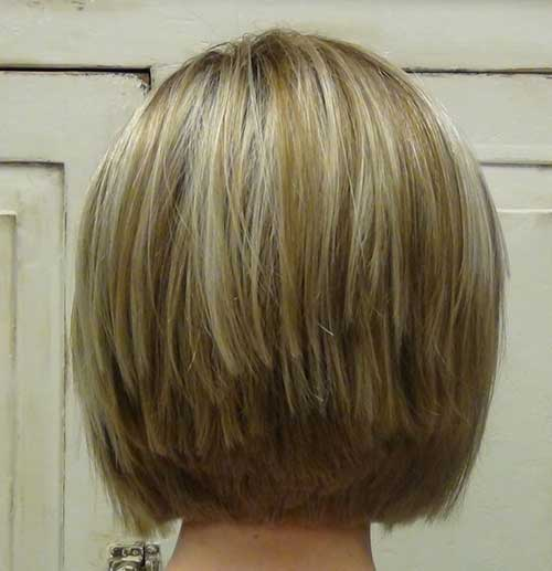 Stacked Bob Haircuts for Fine Hair Back View