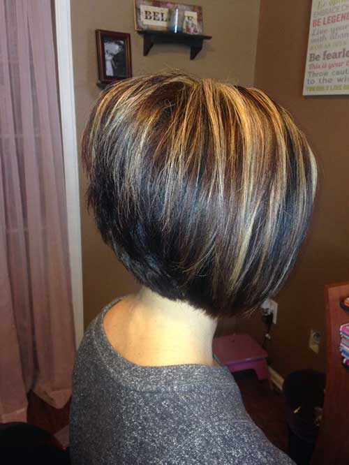 Stacked Highlighted Bob Haircuts